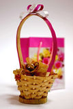Gift basket and bag Royalty Free Stock Photo