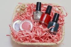 Gift basket Beauty Tools Royalty Free Stock Image
