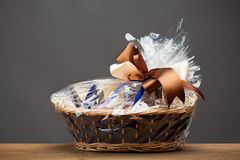 Gift in a basket Royalty Free Stock Image