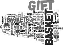 Gift Basket Heaven Word Cloud Concept Royalty Free Stock Image