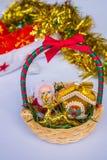 Gift baskets. And Christmas season Stock Photos