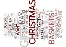 Gift Baskets For Christmas Word Cloud Concept Royalty Free Stock Image