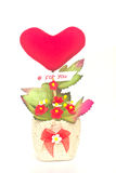 Gift baskets flowers Heart shaped Royalty Free Stock Photography