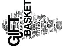 Gift Baskets The Gift You Can Give Again And Again Word Cloud Concept Royalty Free Stock Photography