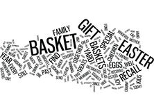 Gift Baskets A Great Way To Celebrate Easter Word Cloud Concept Stock Photo