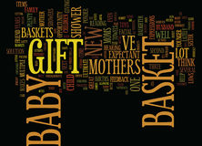 Gift Baskets Popular For Expectant And New Mothers Word Cloud Concept Stock Image
