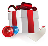 Gift and baubles Royalty Free Stock Images
