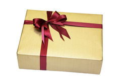 Gift in beautiful packing. A gift in beautiful packing with a bow Stock Image