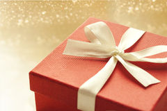 Gift. Beautiful gift on shiny background Royalty Free Stock Photography