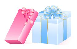 Gift with a big bow Stock Image