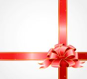 Gift with a big color bow Royalty Free Stock Image