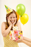 Gift on birthday Royalty Free Stock Photos