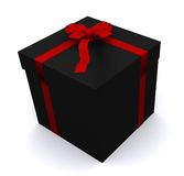 Gift in black box Stock Image