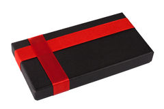 Gift in a black box Royalty Free Stock Image