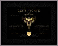 Gift black luxury Certificate / diploma / award template Stock Images