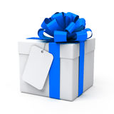 Gift with blank tag Stock Photos