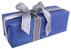 Gift In Blue Stock Images