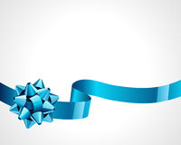 Gift blue bow Royalty Free Stock Photography