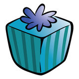 Gift blue box Royalty Free Stock Image