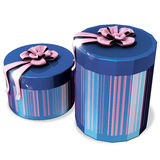 Gift blue boxs Royalty Free Stock Photography