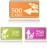 Gift and bonus cards Stock Photography