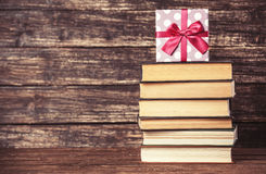 Gift and books Stock Images
