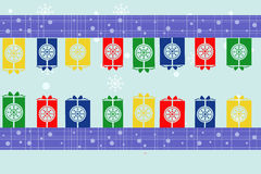 Gift border Stock Images