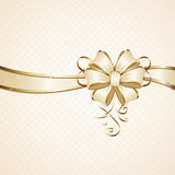 Gift bow. On beige background, illustration Stock Photos