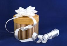 Gift with bow stock photography