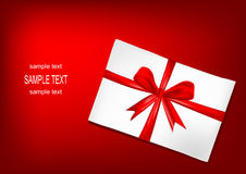 Gift with bow Royalty Free Stock Image