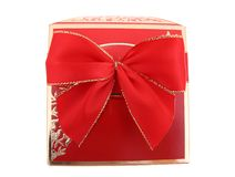 Gift with bow Stock Images