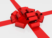Gift Bow. On white high quality Royalty Free Stock Photos