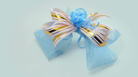 Gift bow (bow for gift wrapping). stock video