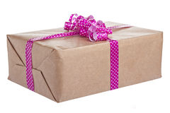 Gift Bow Box Isolated Royalty Free Stock Photography