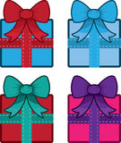 Gift With Bow Colors Stock Photos