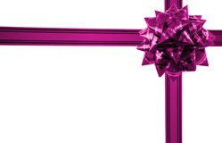 Gift with bow horizontal Royalty Free Stock Photo