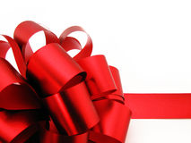 Gift bow isolated on white Royalty Free Stock Images