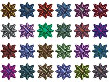 Gift bow multi colored selection Royalty Free Stock Photo