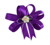 Gift  bow purple for  gift in celebrations. Royalty Free Stock Photos