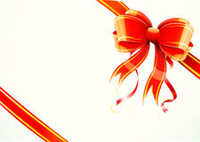 Gift bow and ribbon Stock Photography