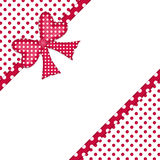 Gift bow and ribbon borders Royalty Free Stock Images