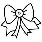 Gift bow ribbon silk stock illustration