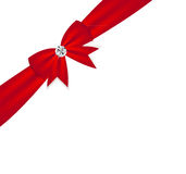 Gift Bow with Ribbon. Vector Illustration. Royalty Free Stock Photo