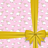 Gift bow with ribbon Vector illustration Stock Image