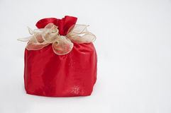 A gift with a bow Stock Photography