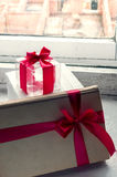 Gift with a bow Stock Images