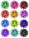 Gift Bows - 12 colours Stock Photography