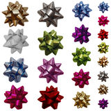 Gift bows. Colorful gift bows isolated on white Stock Photography