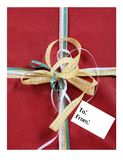 Gift with Bows and an Empty Tag with Room For Your Text Stock Photos