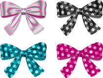 Gift bows. For festive decorations. Vector illustration Royalty Free Stock Photos